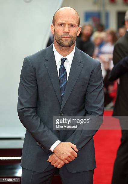 Jason Statham attends the UK Premiere of Spy at Odeon Leicester Square on May 27 2015 in London England