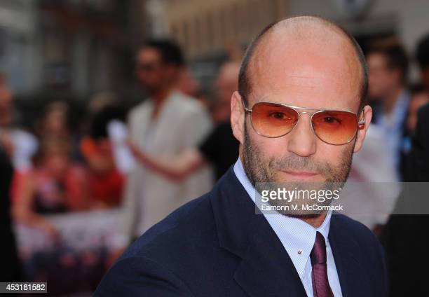 Jason Statham attends the World Premiere of 'The Expendables 3' at Odeon Leicester Square on August 4 2014 in London England