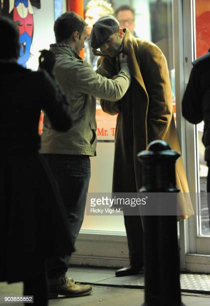 Jason Statham filming scenes for his new film 'Hummingbird' on March 23 2012 in London England