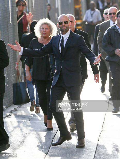 Jason Statham is seen in Hollywood on April 02 2015 in Los Angeles California