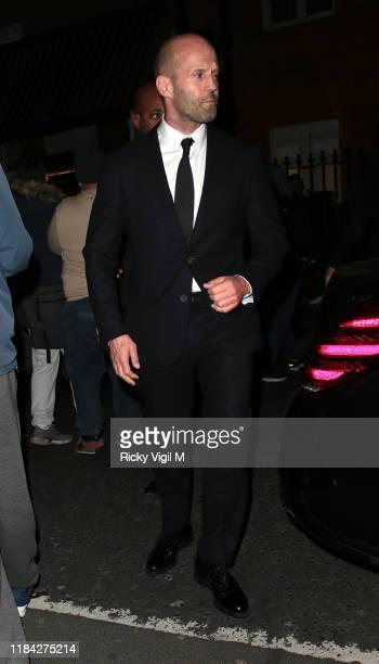 Jason Statham seen attending Harper's Bazaar Women of the Year Awards at Claridge's on October 29 2019 in London England