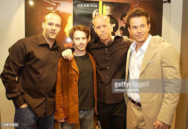 """Jason Statham, Seth Green, Jim And Mark Whalberg during """"The Italian Job"""" Movie Premiere at the The Palms A Maloof Casino Resort in Las Vegas, Nevada."""