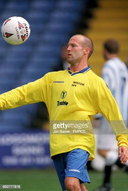 Jason Statham star of Lock Stock and Two Smoking Barrels playing for the Brit Flick Six team
