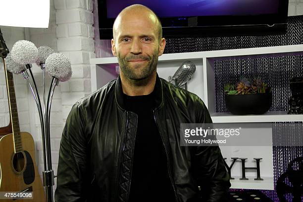Jason Statham visits the Young Hollywood Studio on May 15 2015 in Los Angeles California