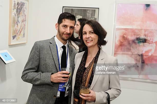 Jason Stein and Elizbeth Kellen attend The Rema Hort Mann Foundation LA Artist Initiative Benefit Auction on November 21, 2013 in Los Angeles,...