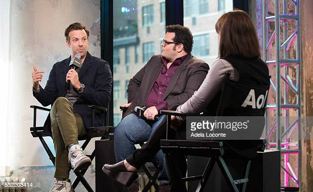 Jason Sudeikis and Danny McBride discuss The Angry Birds Movie At AOL Build at AOL on May 18 2016 in New York City