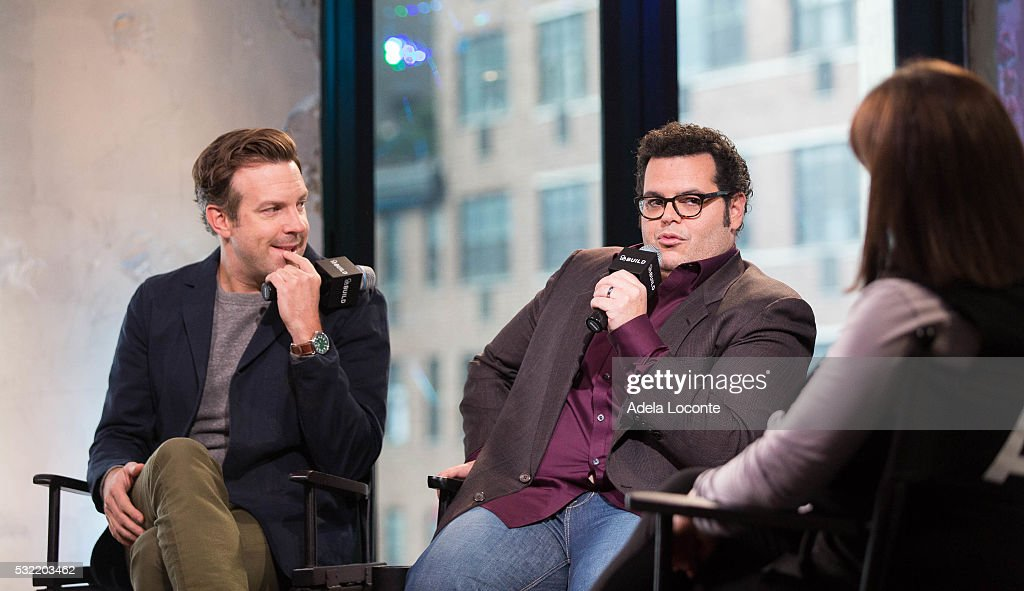 Jason Sudeikis and Danny McBride discuss 'The Angry Birds Movie' At AOL Build at AOL on May 18, 2016 in New York City.