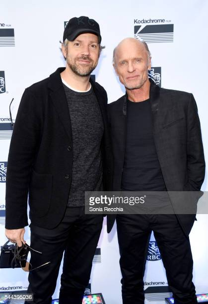 Jason Sudeikis and Ed Harris attend the 'Kodachrome' cocktail party hosted by RBC at RBC House Toronto Film Festival 2017 on September 8 2017 in...