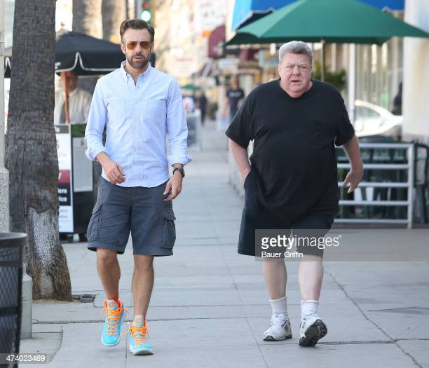 Jason Sudeikis and George Wendt are seen on February 21 2014 in Los Angeles California