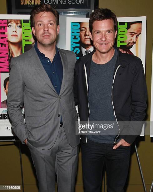 Jason Sudeikis and Jason Bateman attend the screening of Horrible Bosses at Sunshine Landmark on June 23 2011 in New York City