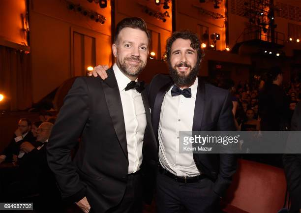 Jason Sudeikis and Josh Groban attend the 2017 Tony Awards at Radio City Music Hall on June 11 2017 in New York City