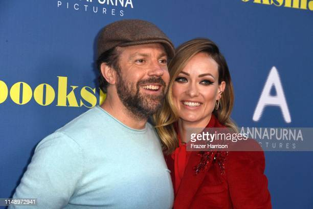 Jason Sudeikis and Olivia Wilde attend LA Special Screening Of Annapurna Pictures' Booksmart at Ace Hotel on May 13 2019 in Los Angeles California