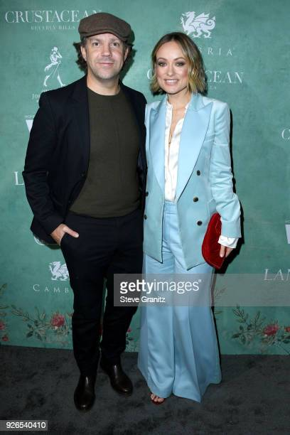 Jason Sudeikis and Olivia Wilde attend the 11th annual celebration of the 2018 female Oscar nominees presented by Women in Film at Crustacean on...