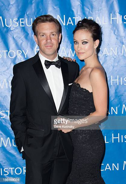 Jason Sudeikis and Olivia Wilde attend The 2012 Museum of Natural History Gala at American Museum of Natural History on November 15 2012 in New York...
