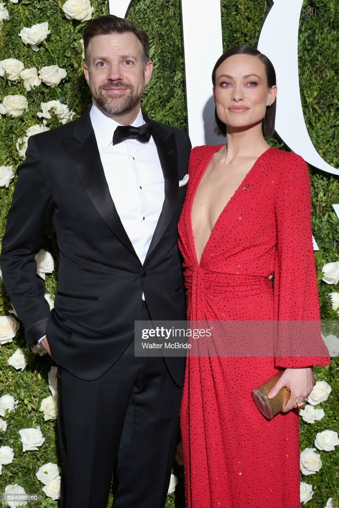 Jason Sudeikis and Olivia Wilde attend the 71st Annual Tony Awards at Radio City Music Hall on June 11, 2017 in New York City.