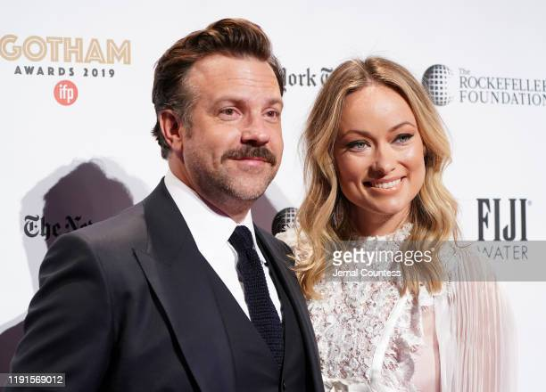 Jason Sudeikis and Olivia Wilde attend the IFP's 29th Annual Gotham Independent Film Awards at Cipriani Wall Street on December 02, 2019 in New York...