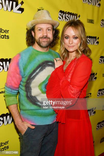 Jason Sudeikis and Olivia Wilde attends the Booksmart Premiere 2019 SXSW Conference and Festivals at Paramount Theatre on March 10 2019 in Austin...