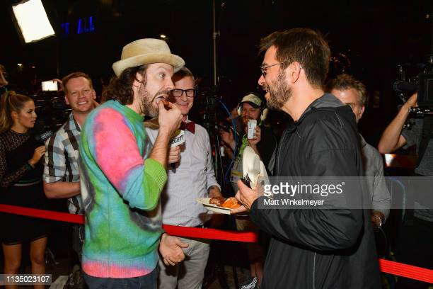 "Jason Sudeikis and Pete Huyck attend the ""Booksmart"" Premiere - 2019 SXSW Conference and Festivals at Paramount Theatre on March 10, 2019 in Austin,..."
