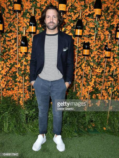 Jason Sudeikis arrives at the 9th Annual Veuve Clicquot Polo Classic Los Angeles at Will Rogers State Historic Park on October 6 2018 in Pacific...