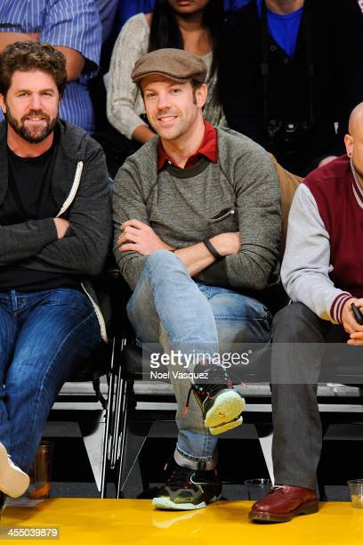 Jason Sudeikis attends a basketball game between the Phoenix Suns and the Los Angeles Lakers at Staples Center on December 10 2013 in Los Angeles...