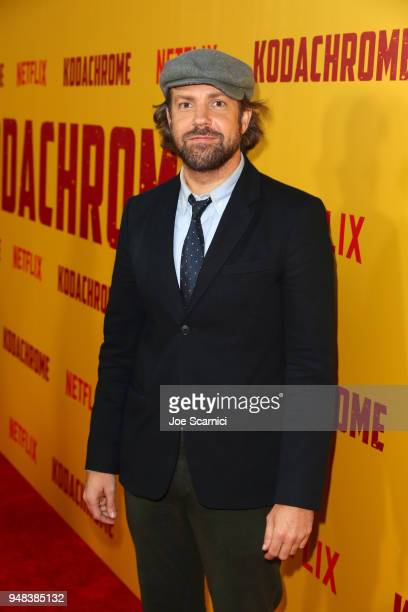 Jason Sudeikis attends Los Angeles special screening of Netflix's film 'KODACHROME' on April 18 2018 in Hollywood California