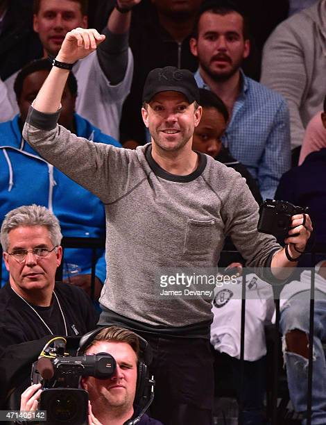 Jason Sudeikis attends the Atlanta Hawks vs Brooklyn Nets game at Barclays Center on April 27 2015 in New York City