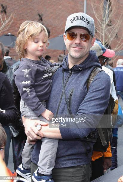 Jason Sudeikis attends the celebration of Jackie Robinson Day at Shinola's brand new brooklyn storefront on April 15 2017 in New York City
