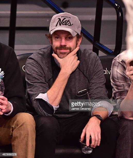 Jason Sudeikis attends the Los Angeles Clippers vs Brooklyn Nets game at Barclays Center on February 2 2015 in the Brooklyn borough of New York City