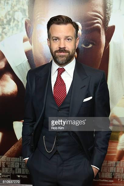 Jason Sudeikis attends the New York Screening of 'Race' at Landmark's Sunshine Cinema on February 17 2016 in New York City