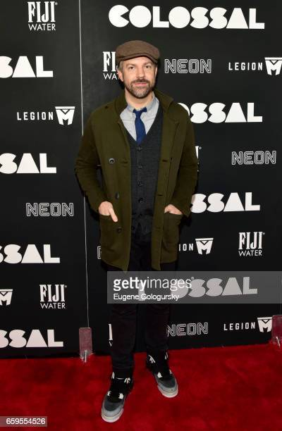 Jason Sudeikis attends The Premiere of Colossal CoHosted by FIJI Water at AMC Lincoln Square Theater on March 28 2017 in New York City