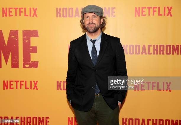 Jason Sudeikis attends the premiere of Netflix's 'Kodachrome' at ArcLight Cinemas on April 18 2018 in Hollywood California