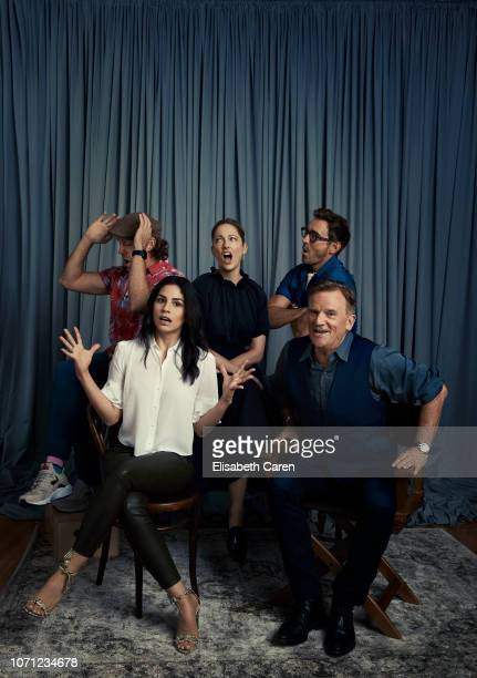 """Jason Sudeikis, Judy Greer, Lee Pace, Nick Hamm and Isabel Arraiza from """"Driven"""" are photographed for The Wrap on September 9, 2018 at the Toronto..."""