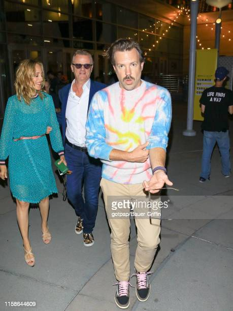 Jason Sudeikis Nick Hamm and Kim Raver are seen on July 29 2019 in Los Angeles California