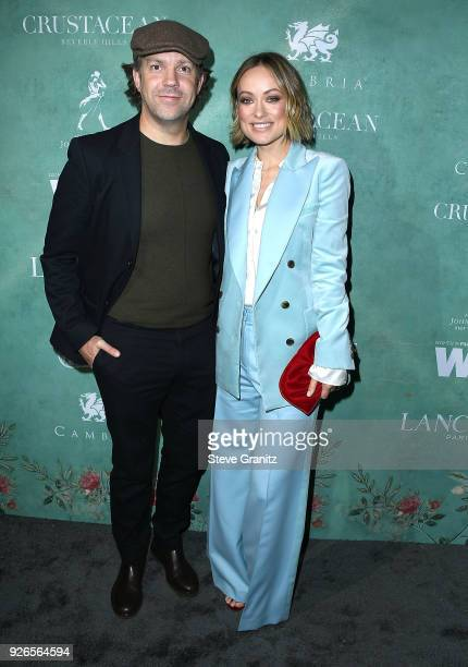 Jason Sudeikis Olivia Wilde arrives at the 11th Annual Celebration Of The 2018 Female Oscar Nominees Presented By Women In Film at Crustacean on...
