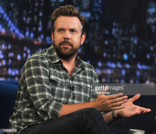 Jason Sudeikis visits 'Late Night With Jimmy Fallon' at Rockefeller Center on September 1 2011 in New York City