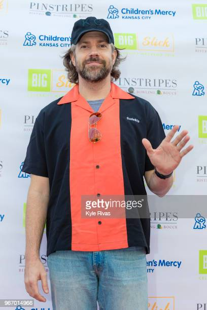 Jason Sudeikis walks the Red Carpet before participating in bowling at Pinstripes during the Big Slick Celebrity Weekend benefitting Children's Mercy...