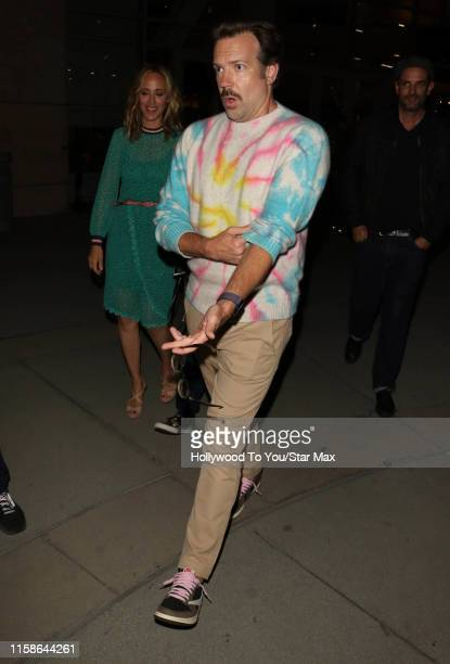 Jason Sudekis and Kim Raver are seen on July 29 2019 at Los Angeles