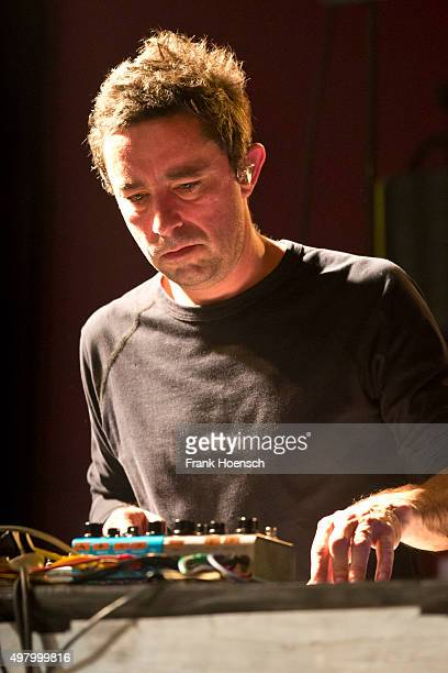 Jason Swinscoe of the British band The Cinematic Orchestra performs live during a concert at the Astra on November 12, 2015 in Berlin, Germany.