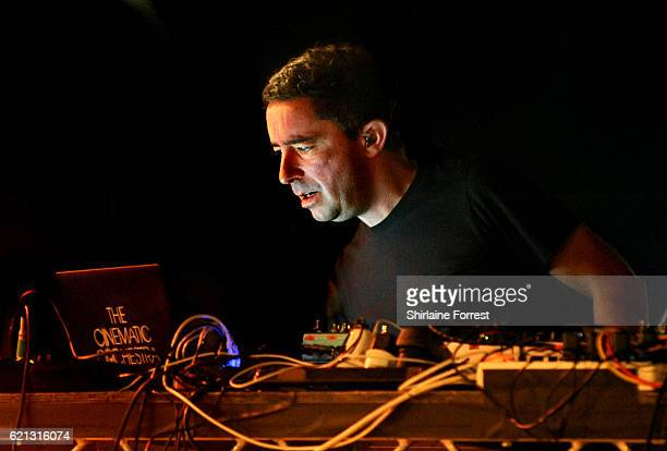 Jason Swinscoe of The Cinematic Orchestra performs at O2 Apollo Manchester on November 5, 2016 in Manchester, England.