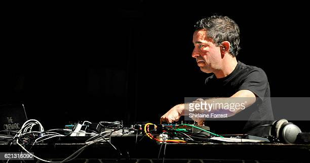 Jason Swinscoe of The Cinematic Orchestra performs at O2 Apollo Manchester on November 5 2016 in Manchester England