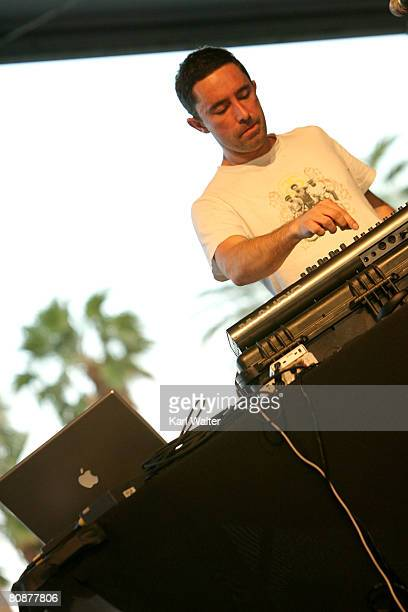 Jason Swinscoe of the Cinematic Orchestra performs during day 2 of the Coachella Valley Music And Arts Festival held at the Empire Polo Field on...