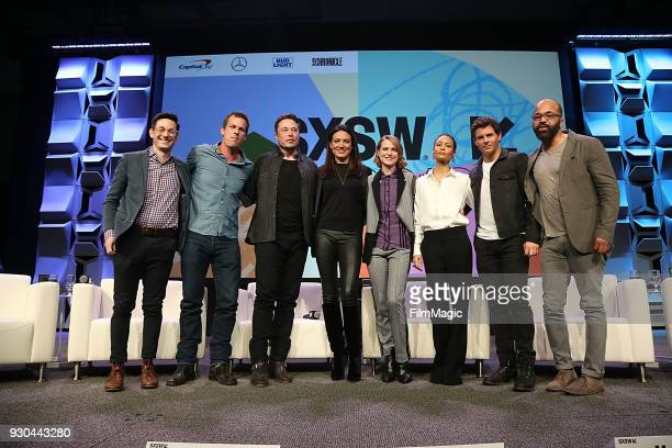 Jason Tanz Westworld showrunner/creator Jonathan Nolan CEO of SpaceX Elon Musk showrunner/creator Lisa Joy actors Evan Rachel Wood Thandie Newton...