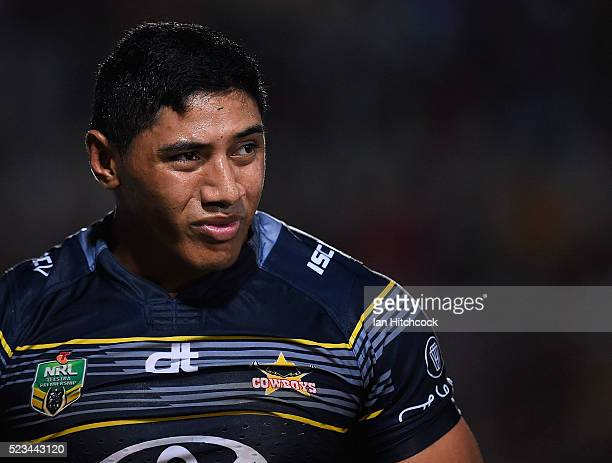 Jason Taumalolo of the Cowboys looks on during the round eight NRL match between the North Queensland Cowboys and the Parramatta Eels at 1300SMILES...