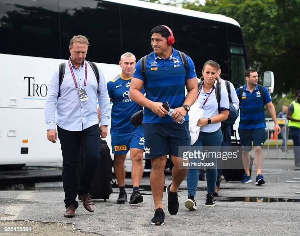 Jason Taumalolo of the Cowboys walks into the ground before the start of the round 16 NRL match between the South Sydney Rabbitohs and the North...