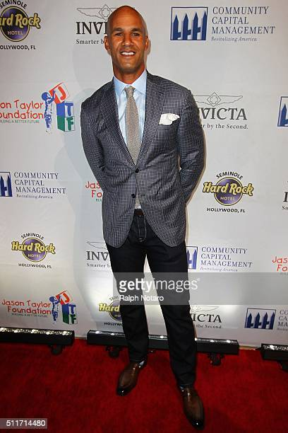 Jason Taylor attends the Jason Taylor Foundation Celebrity Golf Classic Kick Off Party at Kuro at Seminole Hard Rock Hotel Casino on February 21 2016...