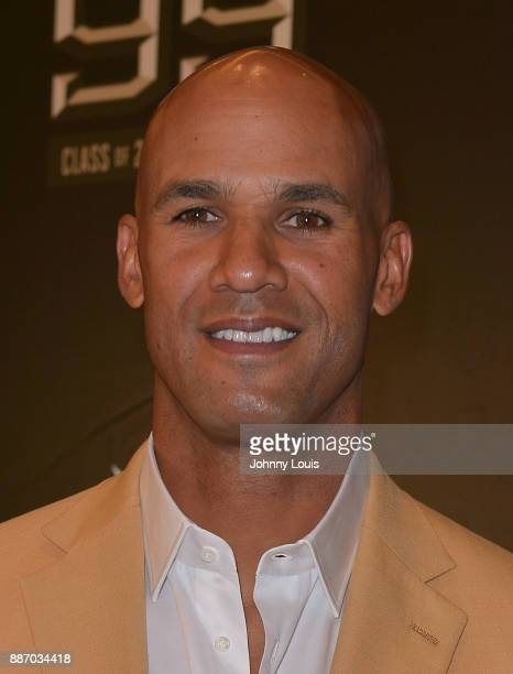 Jason Taylor attends The Miami Dolphins 'Hall of Fame Celebration' hosting Jason Taylor at Hard Rock Stadium on December 02 2017 in Miami Gardens...