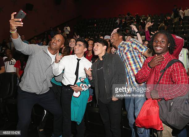 Jason Taylor, Hector Duran, Carlos Pratts and Channing Crowder attend the Private Screening of McFarland USA with Actors Carlos Pratts and Hector...