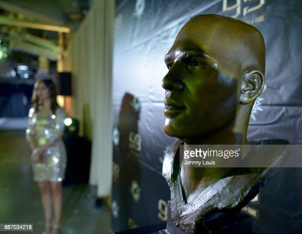 Jason Taylor Pro Football Hall of Fame bronzed bust on display during The Miami Dolphins 'Hall of Fame Celebration hosting Jason Taylor at Hard Rock...