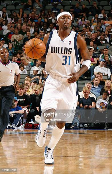 Jason Terry of the Dallas Mavericks drives the ball up court during the preseason game against the Cleveland Cavaliers on October 17 2009 at American...