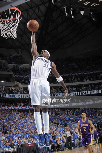 Jason Terry of the Dallas Mavericks dunks against the Los Angeles Lakers during Game Three of the Western Conference Semifinals in the 2011 NBA...